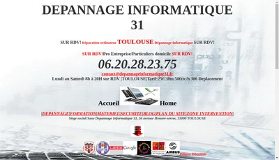 Site internet de Depannage Informatique 31