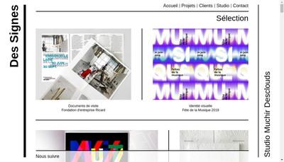 Site internet de Des Signes Graphiques SARL