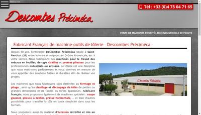Site internet de Descombes Precimeca