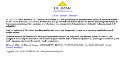 Site internet de Desman