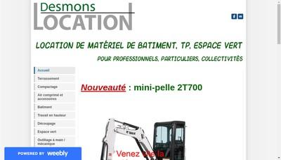 Site internet de Desmons Location