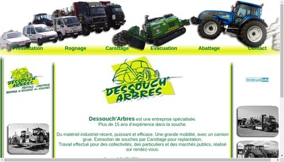Site internet de SARL Dessouch'Arbres