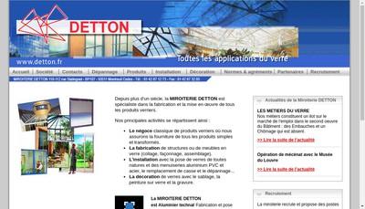 Site internet de Miroiterie Detton