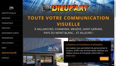 Site internet de SARL Dieup'Art Publicite
