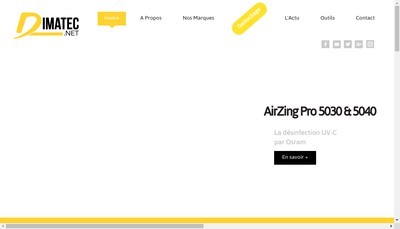 Site internet de Dimatec