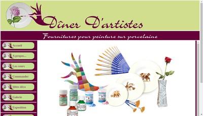 Site internet de Diner d'Artistes