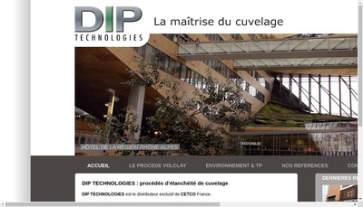 Site internet de Dip Technologies