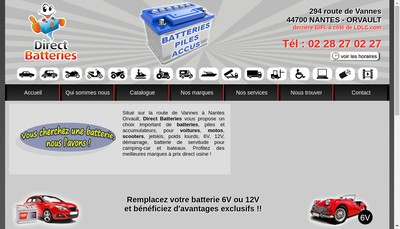Site internet de Direct Batteries