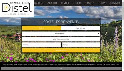 Site internet de Distel Immobilier