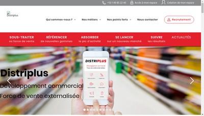 Site internet de Distriplus
