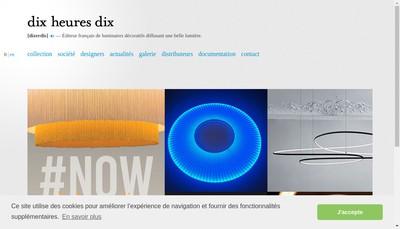 Site internet de Dix Heures Dix