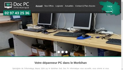 Site internet de Doc Pc Informatique