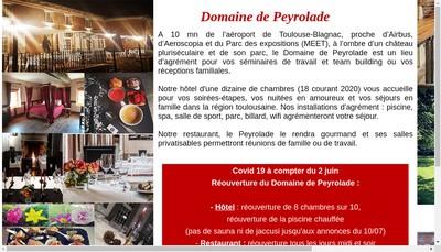 Site internet de Domaine de Peyrolade