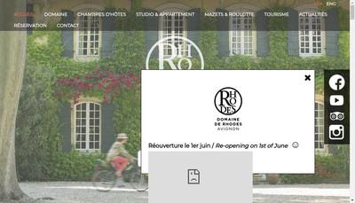 Site internet de Domaine de Rhodes