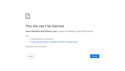 Site internet de Donitian Demolition