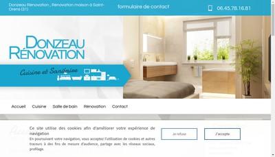 Site internet de Donzeau Renovation