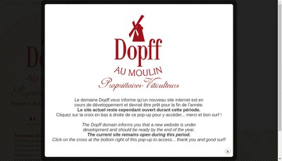 Site internet de Dopff au Moulin