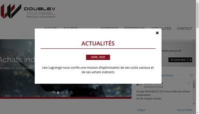 Site internet de Doublev Assurance