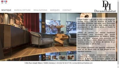 Site internet de Dream Habitat