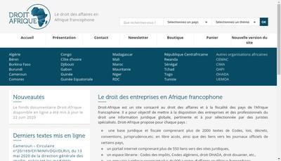 Site internet de Droit-Afrique Com