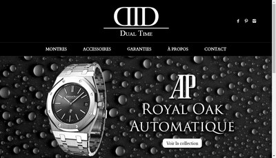 Site internet de Dual Time