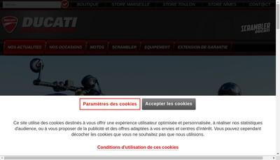 Site internet de Ducati Marseille