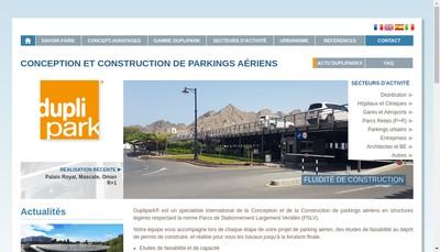 Site internet de Duplipark France