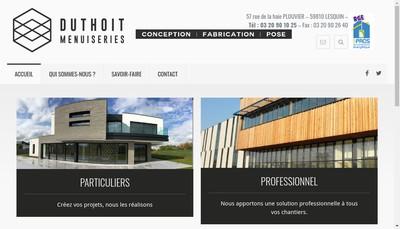 Site internet de Duthoit Menuiseries Aluminium - Duthoit - Agrandirmaison