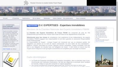 Site internet de Dv Expertises