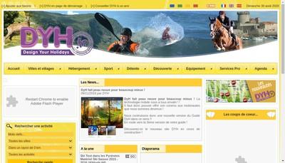 Site internet de Design Your Holidays DYR Fr