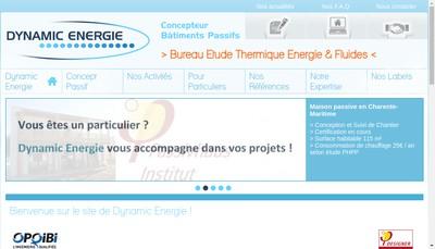 Site internet de Dynamic Energie