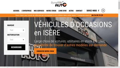 Site internet de Dynamik'Auto