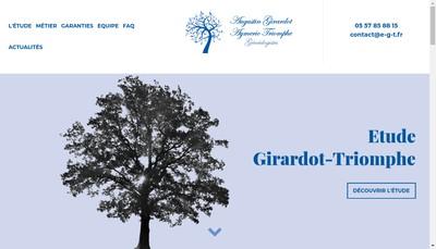 Site internet de Etude Girardot-Triomphe