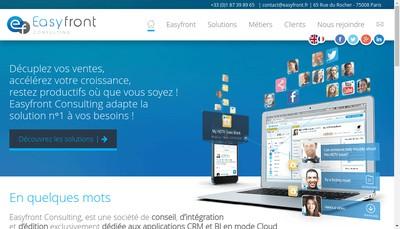 Site internet de Easyfront Consulting