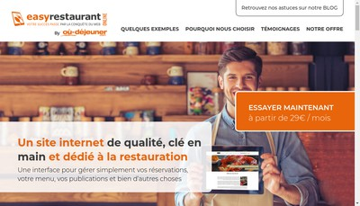 Site internet de Easy Restaurant Online