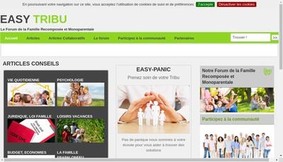 Site internet de Easytribu