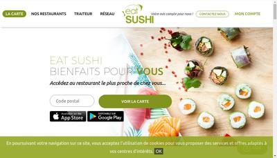 Site internet de Eat Sushi
