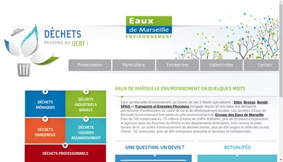 Site internet de Societe Industrielle du Littoral Mediterraneen pour l'Environnement