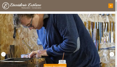 Site internet de Ebenisterie Leblanc