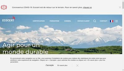 Site internet de Ecocert France