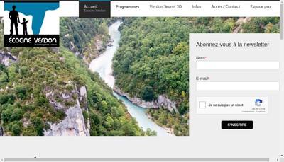 Site internet de Ecocine Verdon