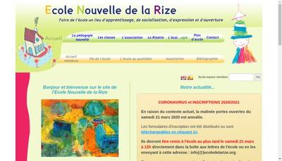 Site internet de Ecole Nouvelle de la Rize