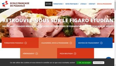Site internet de Ecole Francaise de Pizzaiolo