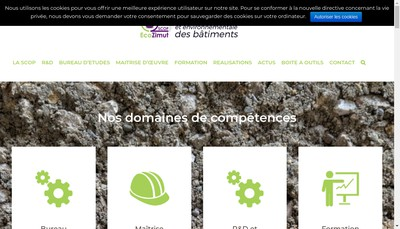 Site internet de SCOP Ecozimut
