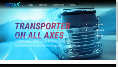 Site internet de Edax Transport