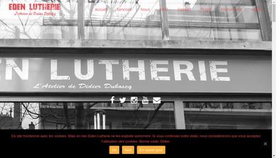 Site internet de Eden Lutherie