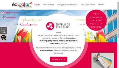 Site internet de Edicolor Print