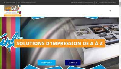 Site internet de Editinfo