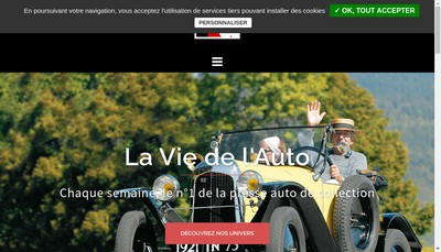 Site internet de Vie de l'Auto-Lva-Vie de la Moto-Lvm-