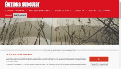 Site internet de Editions Sud Ouest